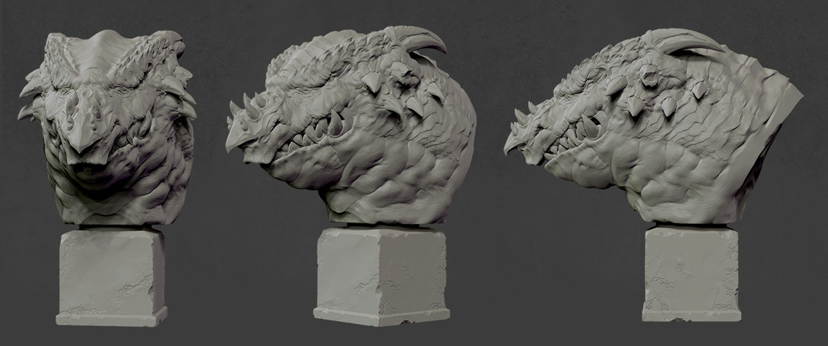 Dragon Head(Sculpt)Raphica LLC All Rights Reserved.
