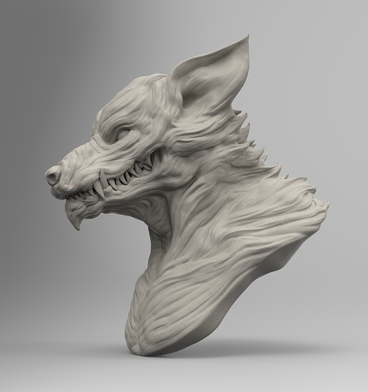 Werewolf(Sculpt) Raphica LLC All Rights Reserved.